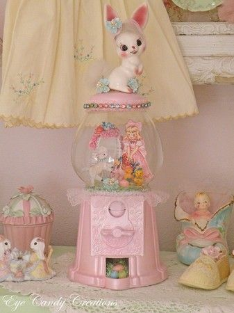 so sweet! Pastel bunny gumball machine by Eye Candy Creations <3