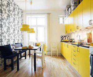 online interior design - low budget yellow kitchen