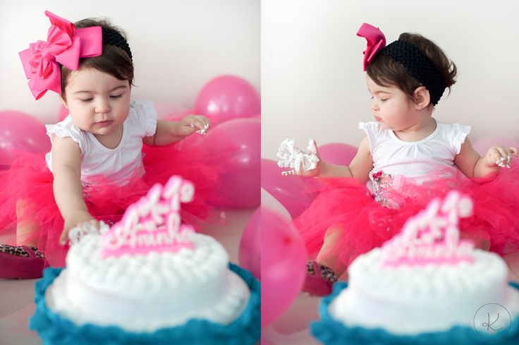 Primeiro bolo de aniversario • Smash the Cake Photoshoot • Krisiele Oliveira