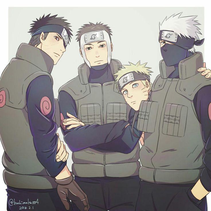 Obito, Yamato, Kakashi and Naruto