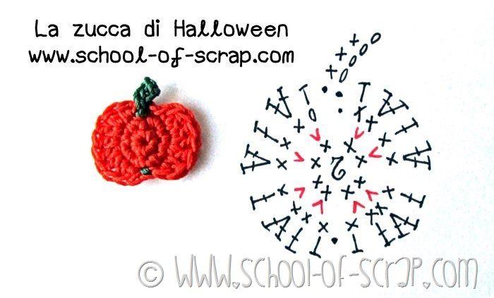 Scuola di uncinetto: facciamo insieme la zucca di Halloween - crochet pumpkin applique