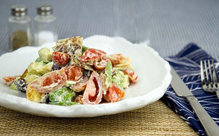 Bacon, Lettuce, Tomato and Avocado Salad / @DJ Foodie / DJFoodie.com