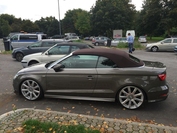 Audi A3 cabrio on the road.