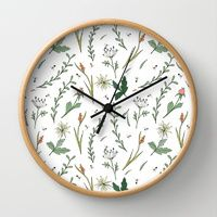 Wall Clocks by Alessandra Spada | Society6