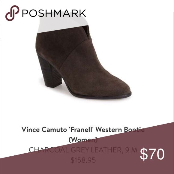 Vince Cameron charcoal gray boots Charcoal gray suede boots. Mint condition. Only worn a few times. Paid $158.95. Vince Camuto Shoes Ankle Boots & Booties