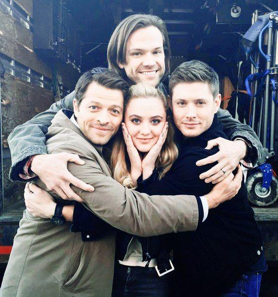 Supernatural. Jared Padalecki, Jensen Ackles, Misha Collins, and someone else
