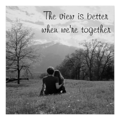 The view is better when we're together Poster