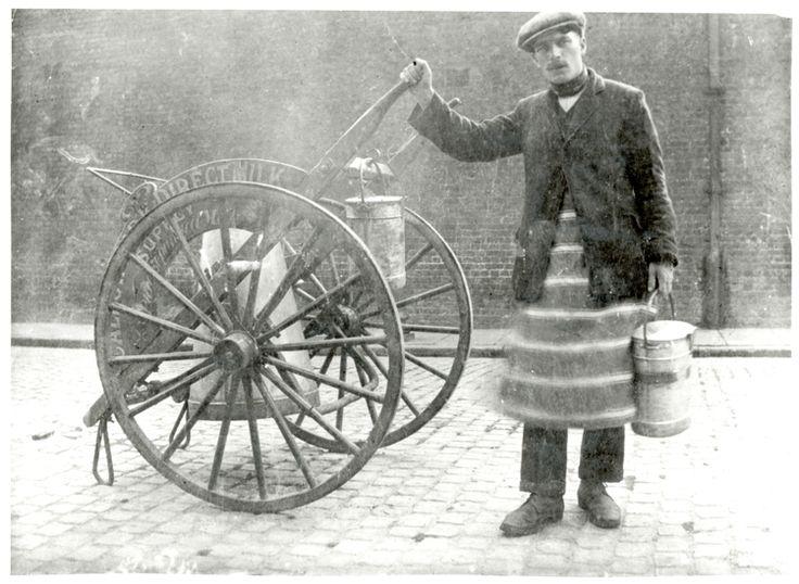 Milk Cart, Peckham, Southwark, c.1920                                                                                                                                                                                 More