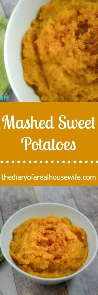 Mashed Sweet Potatoes. I always bring this to our thanksgiving party and my family loves it.