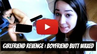 Angry Girlfriend glues naked Boyfriend to Wax Strips as he painfully screams to rip them off