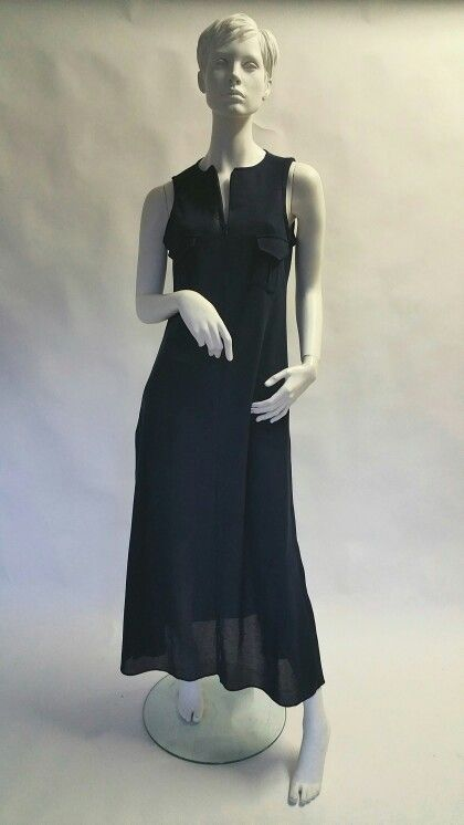 Peace Lily Piquet cotton, long dress with slots on the sides.