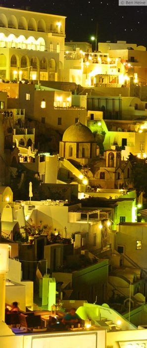 Fira Santorini By NightSantorini Greece, Buckets Lists, Travel Places, Favorite Places, Greece Travel, Night Looks, Amazing Places, Travel Greece, Fira Santorini