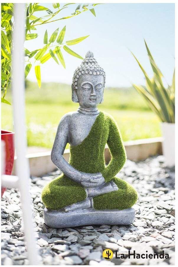 La Hacienda Small Flocked Buddha Add Some Eastern Promise To Your Garden With The La Hacienda Small Flocked Buddha Mad Garden Ornaments Buddha Statue Hacienda