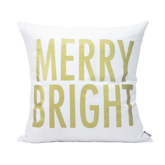 Merry and Bright Pillow Cover // by michelledwight, $38.00