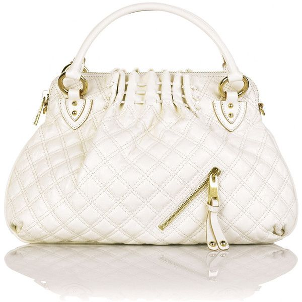 Marc Jacobs Cecilia quilted tote ($1,031) ❤ liked on Polyvore featuring bags, handbags, tote bags, purses, bolsas, marc jacobs, women, zip tote bag, zipper tote and white tote bag