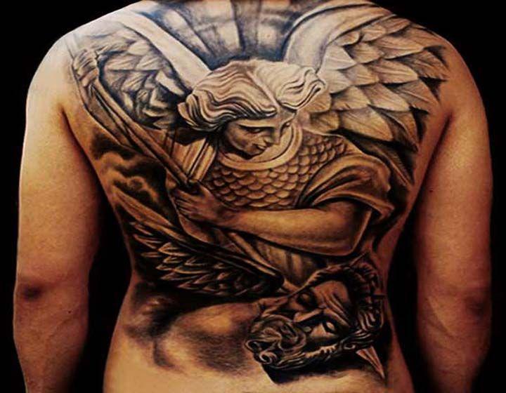 savaşçı melek dövmesi