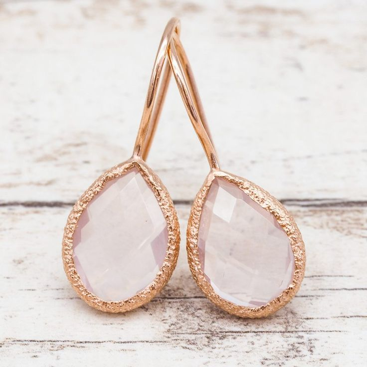 N E W Rose Gold Rose Quartz Earrings Available in our NEW Collection www.indieandharper.com