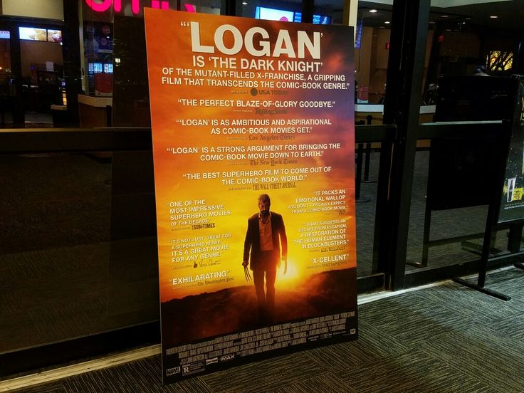 A poster for the very well-received Logan movie at AMC Deptford 8 movie theater in Deptford, New Jersey.