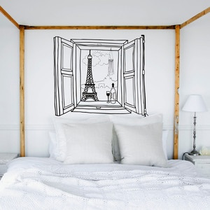 Paris Window Wall Sticker now featured on Fab. (when your holiday is out of sight)