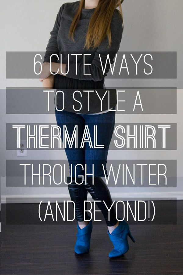 I'm having a love affair with a gray waffle knit thermal shirt this winter. I wear it everywhere! Here are 6 cute ways I've styled it.