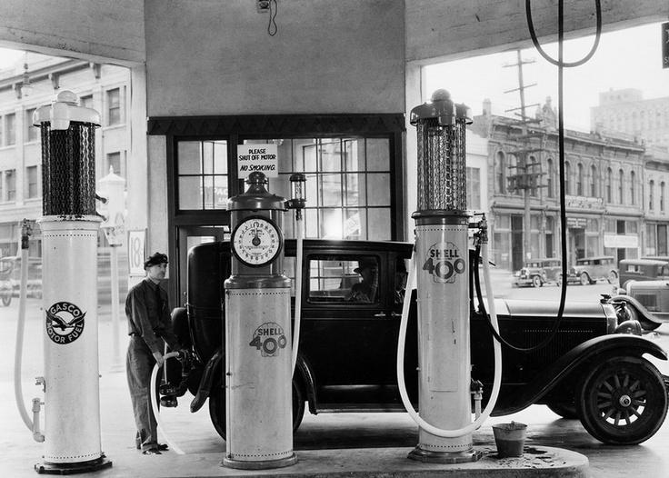Shell station  Tokheim gas pumps 1920's