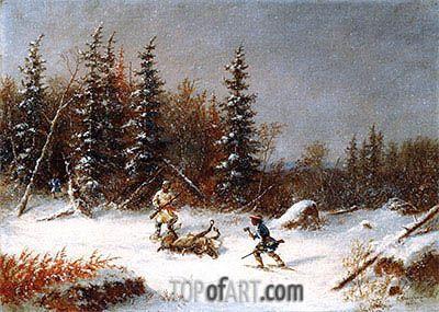 The Caribou Hunters,1866 | Cornelius Krieghoff | Art Gallery of Ontario Toronto Canada