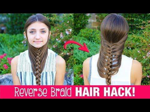 HAIR HACK: DIY Reverse Braid in Under 2 Minutes!   Life Hacks   Cute Girls Hairstyles - YouTube
