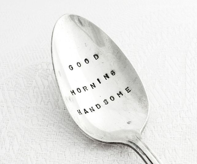 hand stamped Good Morning Sunshine antique spoon
