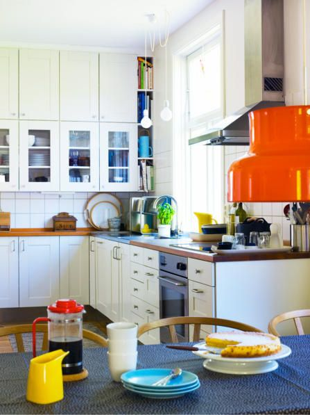 Anna Danielsson {white and colorful scandinavian modern kitchen} by recent settlers, via Flickr