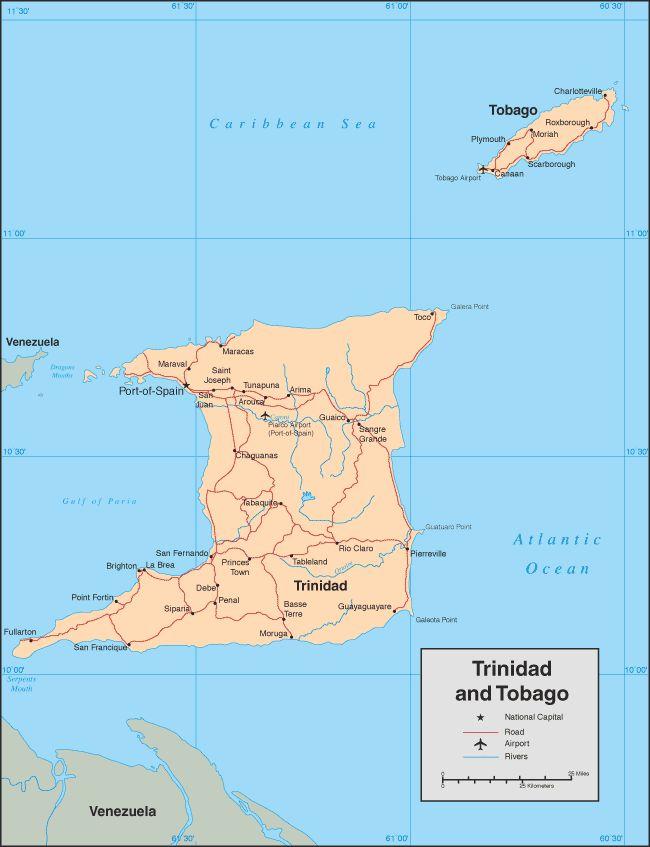 Trinidad & Tobago Maps - Trinidad & Tobago Weddings