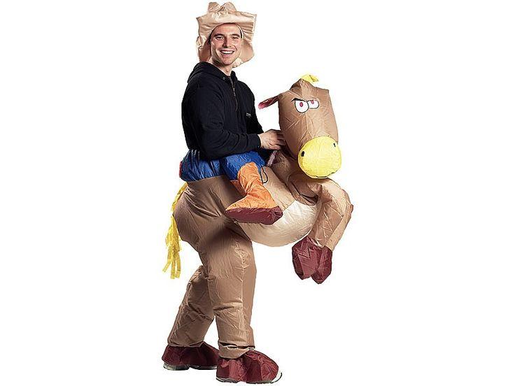 """Aufblasbares Kostüm """"Cowboy mit Pferd"""""""