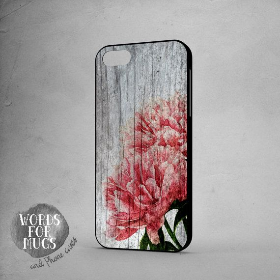 Apple iPhone 6 case floral vintage wood print pink roses by DeWadaSTORE