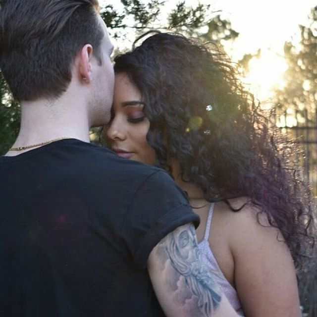 Beautiful interracial couple sharing a romantic moment #love #wmbw #bwwm #swirl