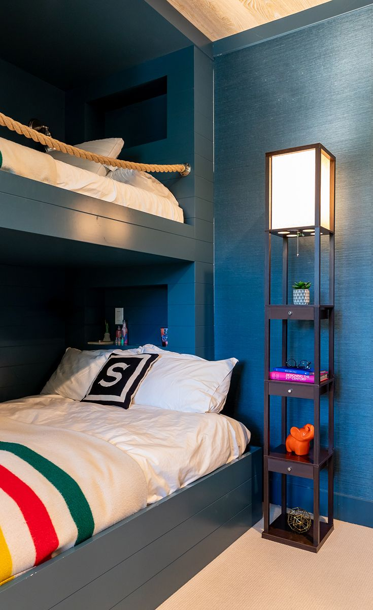 Love This Maxwell Shelf Floor Lamp That Shines For Top And Bottom Bunks In  The Kidsu0027 Room. #lamp #lighting #kidsroom #design #interiors #ad