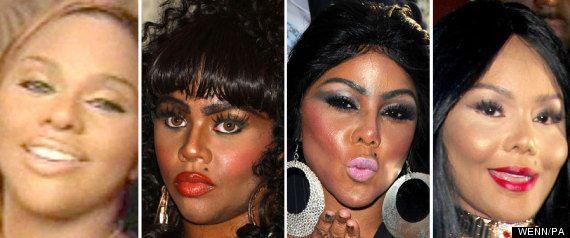 kim kardashian face transformation | Lil Kim Faces