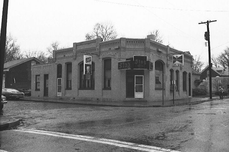 Frank and Lil's Tavern Southwest corner of Mascoutah Avenue and East Garfield Street Circa 1970 Built in 1894 by Adam Gintz, President of the Western Brewery Currently owned by the Belleville Historical Society
