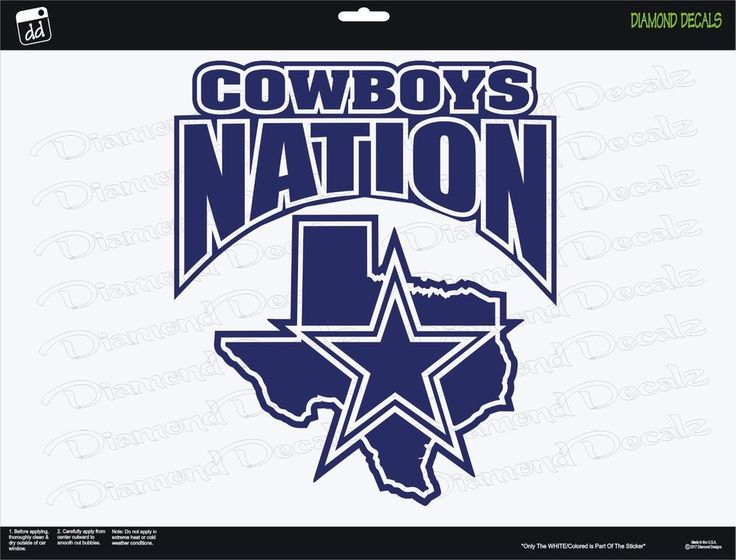 Details about Dallas Cowboys Nation NFL Football 5X SB Champions Vinyl Decal Car Window NEW