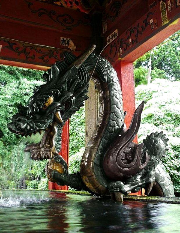 Bronze Dragon, Fuji-Yoshida City,  Japan
