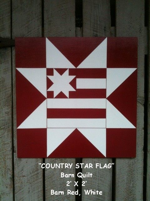 Ties2ThePast: Patriotic Flag Barn Quilt & Others...For Sale!! For porch or indoors