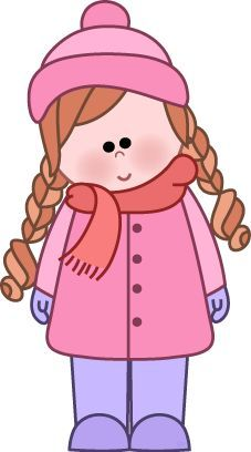 Winter Little Girl Clip Art Clip Art Winter Clipart Pinterest ...