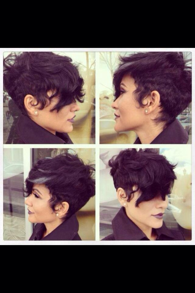 Super cute! Short disconnected Faux hawk