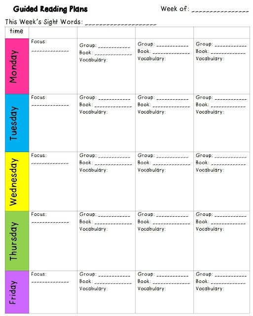 Free Guided Reading Template from Sugar and Spice www.secondgradesugarandspice.com