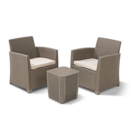 Keter Corona Balcony Set All Weather Plastic Patio Furniture