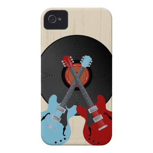 Guitars record iPhone 4 Case-Mate cases