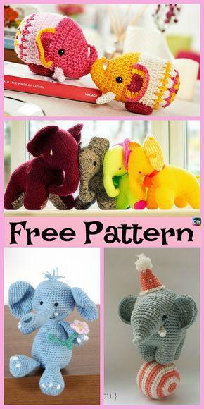 10 Crochet Knit Amigurumi Elephant Free Patterns Fun Crochet
