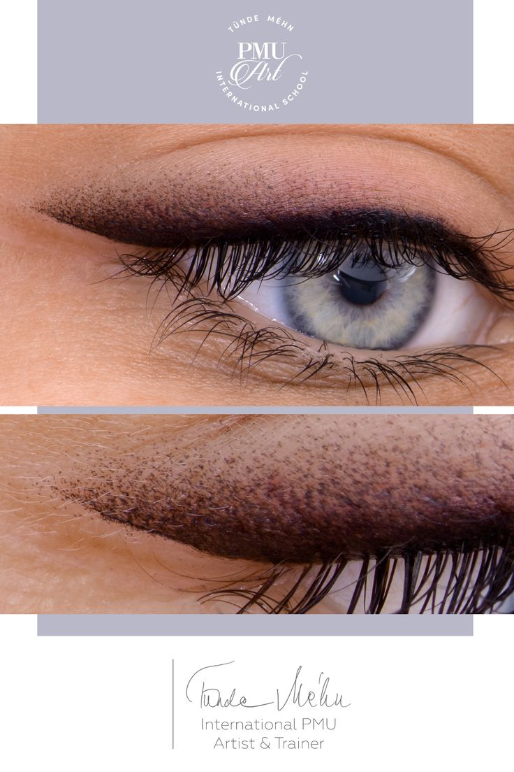 The black pigments at the root of the eyelashes provide a lively, feminine look …