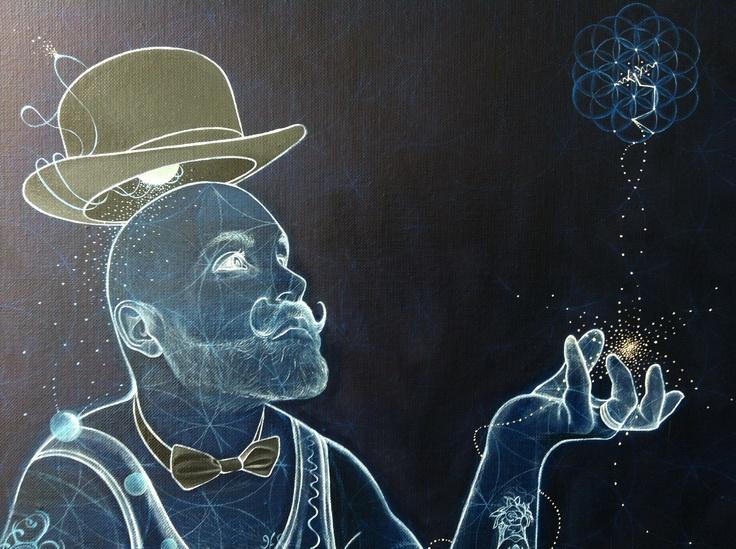 Geoffrey Guillin, huile sur toile, 92x73cm, détail, 2013