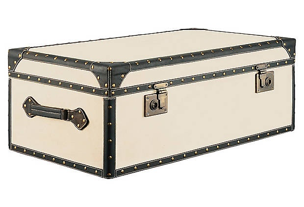 Vintage Canvas Trunk to hold all my purses!
