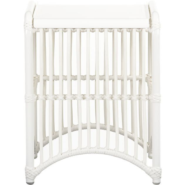 Pin for Later: 12 Outdoor Pieces Worthy of Bringing Inside  A white, bamboo-inspired outdoor side table ($69, originally $129) would be a fun addition to an eclectic bedroom.