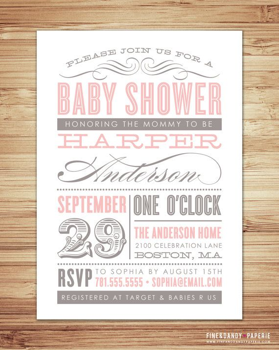 Old Fashioned Baby Shower Invitation par fineanddandypaperie, $ 20,00